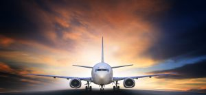 air plane preparing to take off on airport runways use for air transpor and airliner business traveling